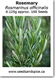Rosemary (Rosmarinus officinalis) 0.125g approx 100 Seeds. 1g, 5g, 10g quantity options available. (0.1g (80-95 Seeds))