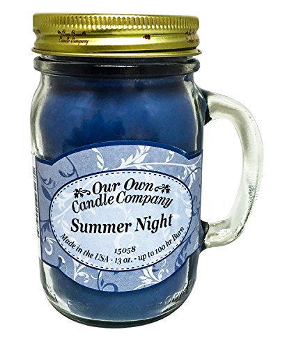 Our Own Candle Company Summer Night Scented 13 Ounce Mason Jar Candle Company