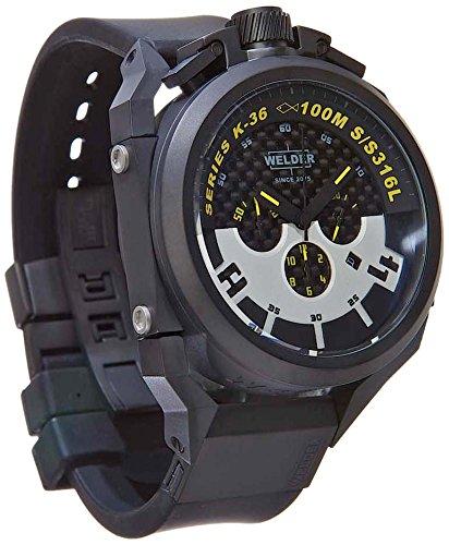 Welder K36-2402 - Reloj para hombres, correa de goma color negro: Amazon.es: Relojes