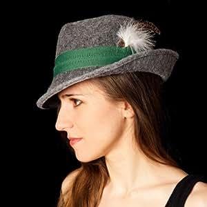 Tirolesa gris, sombrero de fieltro sombrero de fiesta Oktoberfest