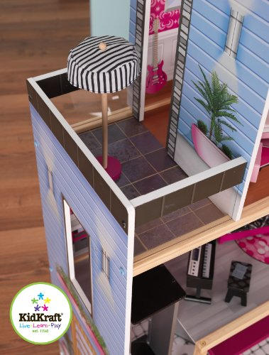 Buy kidkraft girl's uptown dollhouse with furniture