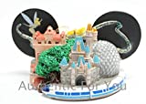 Disney World Parks Exclusive New 2015 Sorcerer Mickey Mouse Ear Hat Disney World 4 Parks Castle Monorail Christmas Ornament