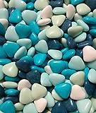 1kg Dragées Coeur Chocolat - Thème Bleu