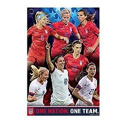 US Women's Soccer Team Poster 2019   USW...