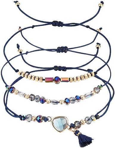 UINGKID Damen Armband Armreif Temperament Crystal Multicolor