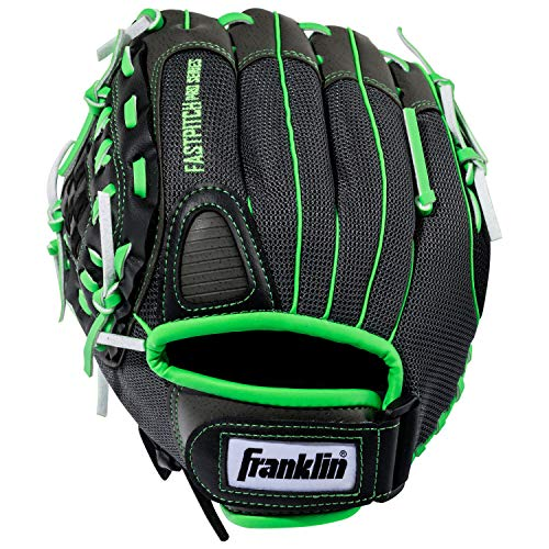 Glove Left Hand Thrower - Franklin Sports Softball Glove - Left and Right Handed Softball Fielding Glove - Windmill Fastpitch Pro Series - Adult and Youth Fielding Glove - 12 Inch Left Hand Throw - Lime
