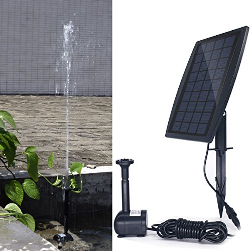 Solar Lighted Bird Bath Fountain in US - 1
