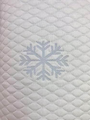 Ferlex Cubre COLCHON Ice Sabana Ajustable Efecto Frio (150 X 180/190 CM) Ideal para EL Verano para Persona CALUROSAS. Envio Gratuito.