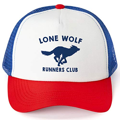 Running Trucker Hat | Lone Wolf Runners Club | Royal-Red