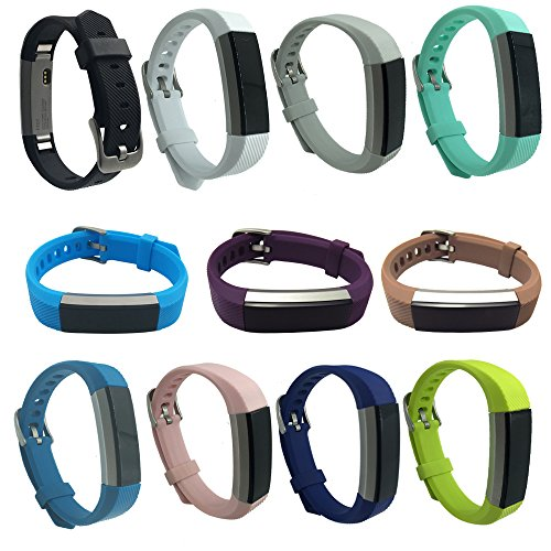 EPYSN Fitbit Alta Bands,Replacement Wristbands for Fitbit Alta HR and Fitbit Alta Accessory Silicone Watch Band Small Large Grey