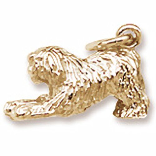 Old Eng Sheepdog (Gold Plated Old Eng. Sheepdog Charm, Charms for Bracelets and)