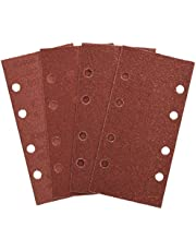 Bosch Home and Garden 2607019495 Bosch 2607019495-Paquete de 25 lijas para lijadoras orbitales (93 x 185 mm, 8 perforaciones, grano, Rosso, GR 40, 60, 80, 120
