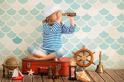 Meerjungfrau Schablone Skala Muster Farbe Farbe Farbe Wände Möbel, Stoffe Erstellen Maßgeschneidert Bemalt Oberflächen zu Viele Wohndeko & Bastel-Projekte Wiederverwendtbar Mylar Schablone von Ideal Stencils B07JCXRXST | Luxus  c92767