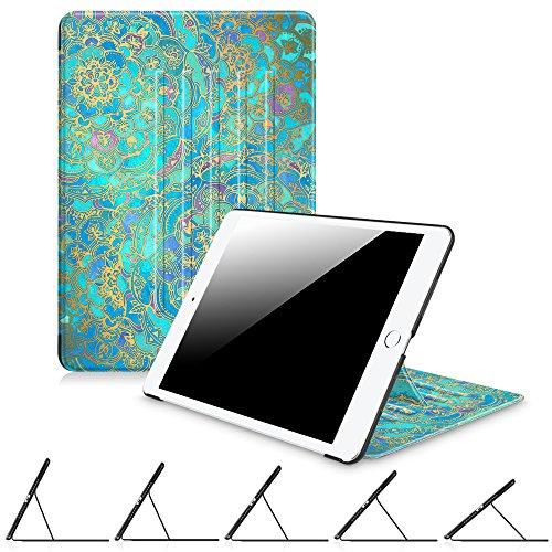 Fintie iPad 2017 9.7 Inch / iPad Air 2 / iPad Air Case - [Multiple Secure Angles] Slim Magnetic Kickstand Protective Cover w/ Auto Sleep / Wake for iPad 9.7 2017, iPad Air 2, iPad Air, Shades of Blue