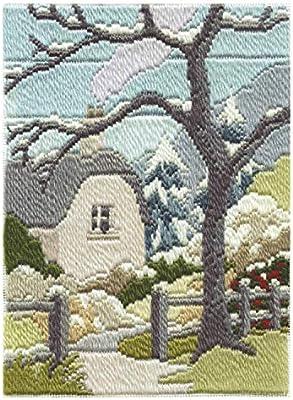 Largo de puntada envase: el jardín de invierno. Este hermoso largo de puntada foto de Rose Swalwell en Cumbria muestra un hermoso Jardín Inglés en invierno. El juego contiene todo lo que