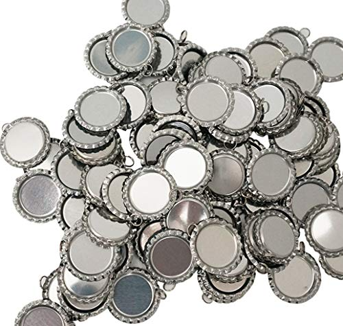 100 Pieces Flattened Bottle caps Double Sided, Wholesale