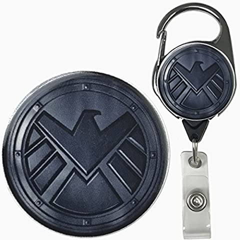 Agents of S.H.I.E.L.D. Inspired Symbol Real Charming Premium Decorative ID Badge Holder (Metal - Agent Badge