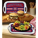 """Memory Company NHL-MCA-309 Montreal Canadiens 16"""" Melamine Serving Tray, One Size, Multi Color"""