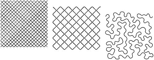 Quilting Creations Stencils for Machine and Hand Quilting | Set of 3 Quilt Plastic Stencils for Background, Continuous Line Patterns | Square Grid, Mock Crosshatch, Large Stipple