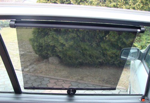 2 x Auto Sonnenschutz Sonnenrollo 55 cm Sonnenschutzrollo Rollo Neu