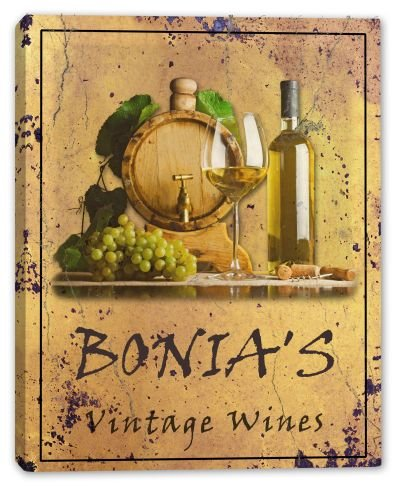 bonias-family-name-vintage-wines-stretched-canvas-print-16-x-20