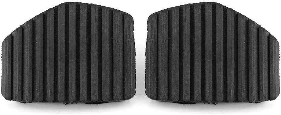 Terisass Pedal cover,1 Pair Clutch Brake Pedal Rubber Cover Replacement For Peug-eot//Citr-oen 1007 207 208 301 C3 C4 C5 C6 C8