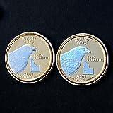 US 2007 Idaho State Quarters Bu Unc Hologram Coins Cufflinks NEW