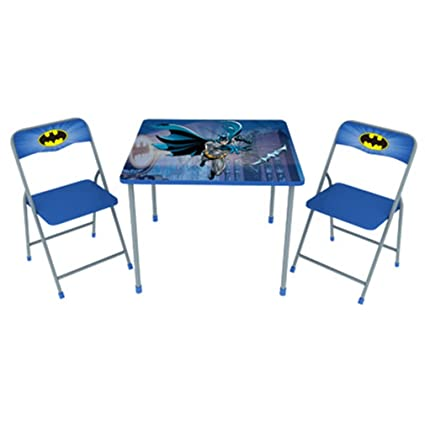 Stupendous Amazon Com Batman Childrens Metal Folding Table And Chair Caraccident5 Cool Chair Designs And Ideas Caraccident5Info