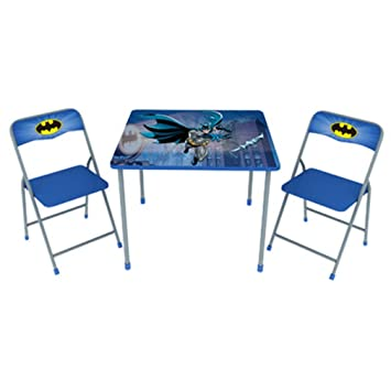 Amazon.com: Batman Children\'s Metal Folding Table and Chair Set ...