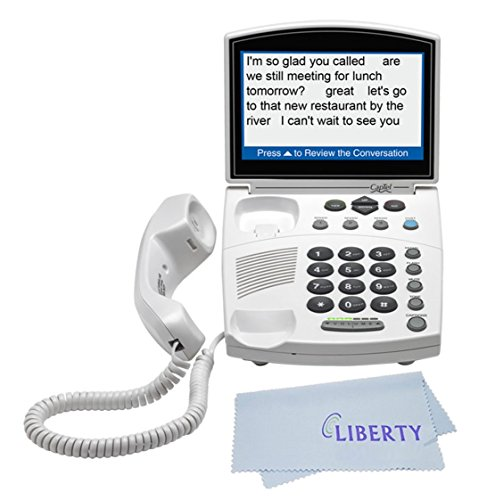 Hamilton CapTel 840i - Real Time Captioning Corded Telephone - Phone for Hearing Impaired (Best Amplified Phone For Hard Of Hearing)
