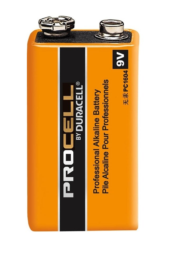 Pack of 50 Duracell PC1604 Procell 9 Volt Alkaline Battery with Cap Protectors - Bulk Pack