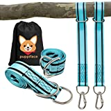 puppiface Tree Swing Straps Hanging Kit Extra Strong 6 ft. Adjustable Straps Hold 4400 lbs - Heavy Duty Safety Lock Stainless Steel Carabiners with Storage Bag - Fast & Easy Installation