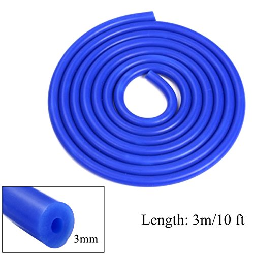 3m Long Blue Silicone Vacuum Hose Turbo Air Intercooler Coupler Pipe 3mm OlogyMart