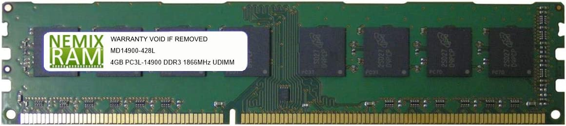 NEMIX RAM 4GB DDR3L-1866 2Rx8 UDIMM Memory for SUPERMICRO Motherboards