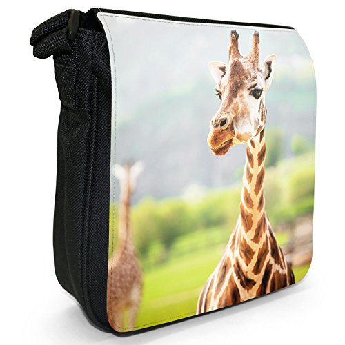 Small Canvas Giraffe Safari Size Shoulder African Bag In Park Black pZ7xqAnWwg