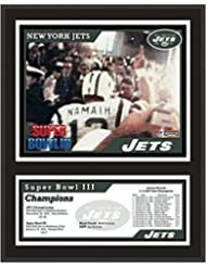 """New York Jets 12"""" x 15"""" Sublimated Plaque - Super Bowl III - Fanatics Authentic Certified - NFL Team Plaques and Collages"""