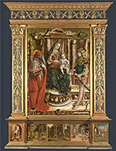 'Carlo Crivelli-Altarpiece from S. Francesco dei Zoccolanti,Matelica,after 1490' oil painting, 8x10 inch / 20x27 cm ,printed on Linen Canvas ,this High Definition Art Decorative Canvas Prints is perfectly suitalbe for Foyer gallery art and Home artwork and Gifts