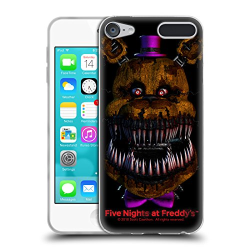 Official Five Nights At Freddy's Nightmare Fredbear Game 4 Soft Gel Case for Apple iPod Touch 6G 6th (Games Ipod Touch 16 Gb)