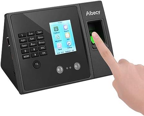 Time Recorder Clocking Attendance in USB clock Machine Fingerprint+Password UK