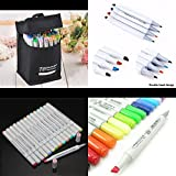Yosoo Finecolour EF101 Set Artist Colored Marker Pen Sketch Manga Graphic Paint + Storage Pouch Bag For Starter or Students (72 Colors)