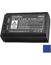 Godox VB26 - Batería de litio para Godox V1 C/N/S/F/O/P (7,2 V, 2600 mAh)