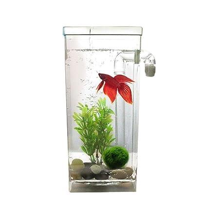 JOHLYE Plantas acuáticas artificiales, PietyPet 7 piezas Plantas de acuario grandes Decoraciones de acuario de