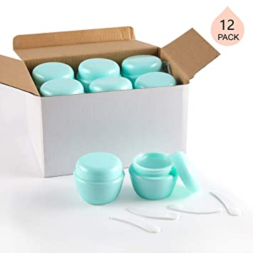 d316c7b81244 LONGWAY 1 Oz (30ML) Small Plastic Jars with Lids and Inner Liners | Empty  Lotion Containers/Travel...