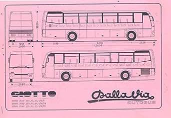 Amazon.com: 1975 ? Fiat Iveco 370.12 Giotoo Dalla Tour Bus Brochure