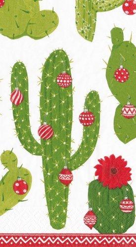 Toallas de mano de decoración de Navidad fiestas de Navidad toallas de papel para invitados de cactus, color marfil: Amazon.es: Hogar