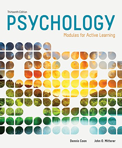 Cengage Advantage Books: Psychology: Modules for Active Learning, Loose-leaf Version