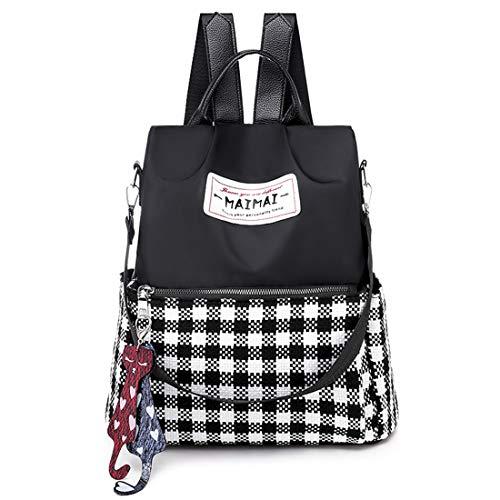 Leviro Women Backpack Waterproof Nylon Anti-theft Rucksack School Shoulder Bag Camo Handbag ()
