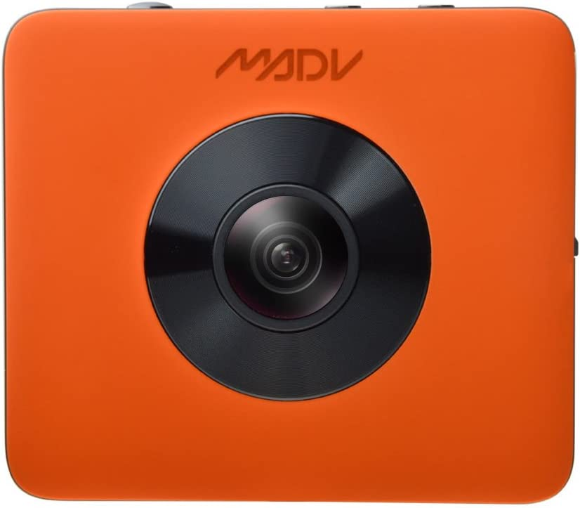 XIAOMI MADV 360 Camera with Bluetooth Remote Control, 4K Video, 24MP Photo, Waterproof, Selfie-Stick and Tripod Included