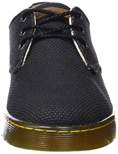 Delray black Derby Zapatos 001 Cordones De Negro Martens Hombre Para Dr 5qO4wXgx1x