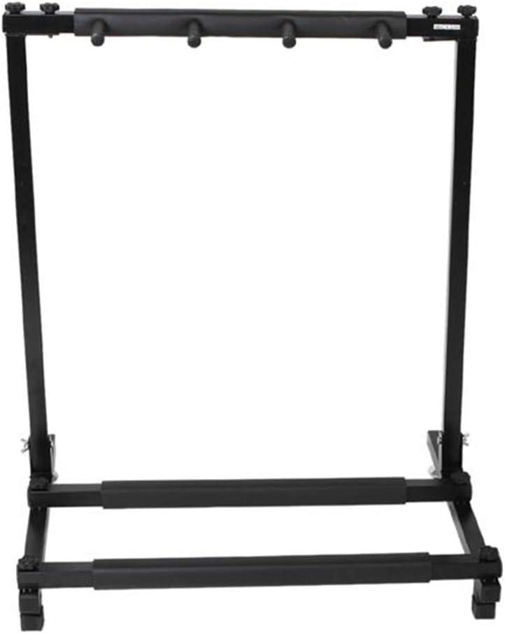 Folding Multiple Guitar Display Holder Rack Stand Black